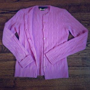 Perfect pink Ralph Lauren cashmere cardigan